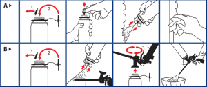 cleaning foam pictogram